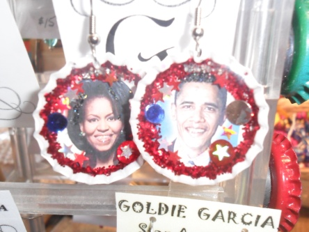 Obama earrings?!?!  Gimme.
